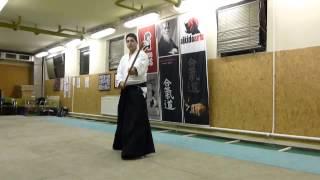 ushiro tsuki -jo [TUTORIAL] Aikido basic weapon technique/ tsuki no bu