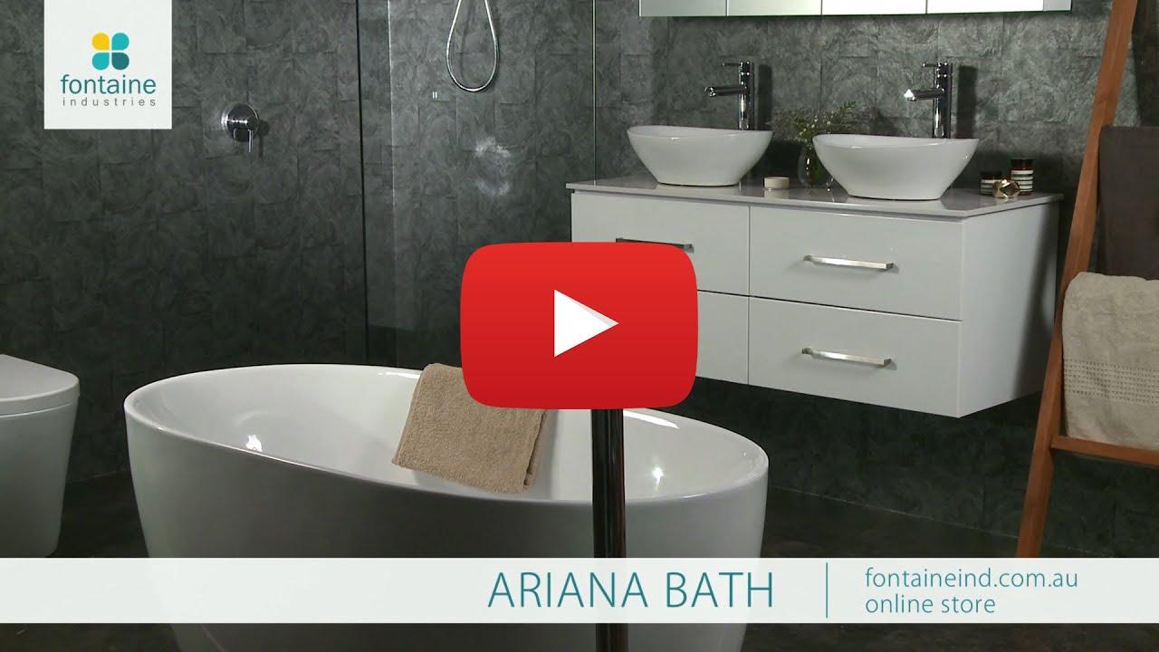 Ariana freestanding bath tub bathtub small compact clever for Small baths 1400