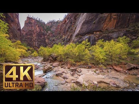 4K Nature Photography & Relaxing Music - Zion National Park. 1 Hour TV Screensaver Episode 1