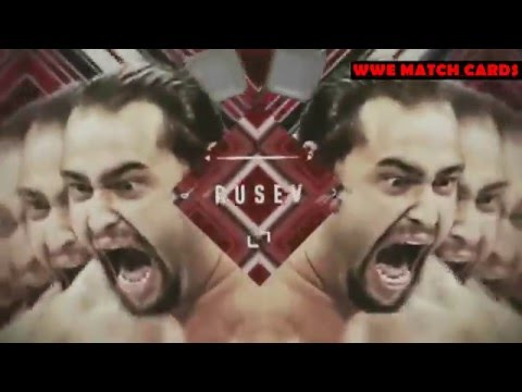 WWE TLC 2015 : Full Match Card