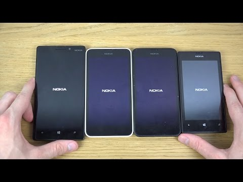 Nokia Lumia 930 vs. Nokia Lumia 635 vs. Nokia Lumia 630 vs. Nokia Lumia 520 - Which Is Faster?