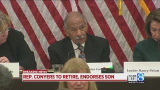US Rep. John Conyers announces he's retiring today