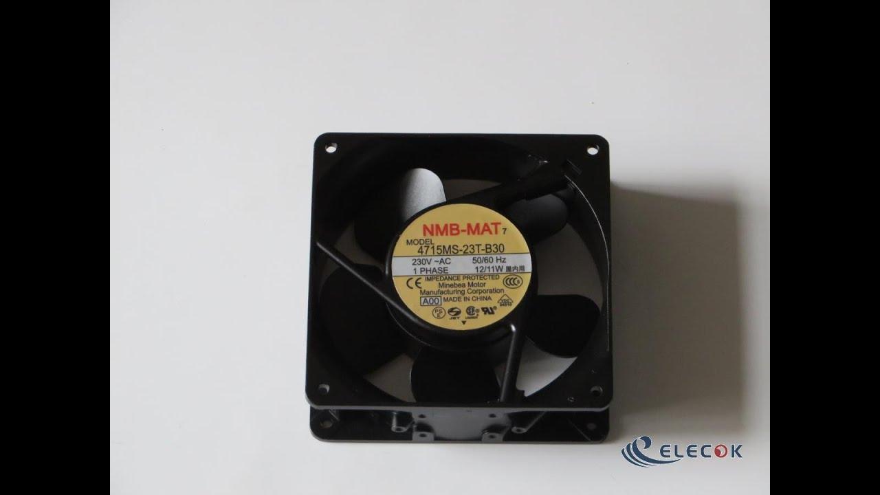 For NMB 4715MS-23T-B30 Fan 120*120*38mm AC 230V 12//11W