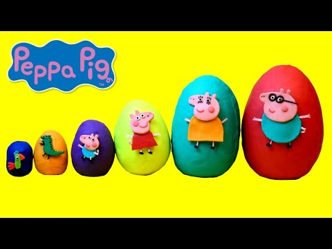 Thumbnail: Smallest to Biggest Peppa Pig Play Doh Surprise Eggs - Learn Sizes