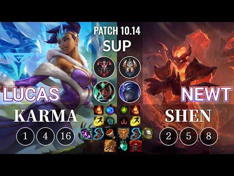 IGY Lucas Karma vs Newt Shen Sup - KR Patch 10.14