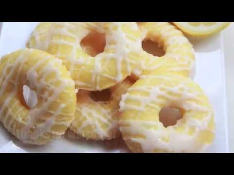 Baked Lemon Cake Donuts w/ Lemon Glaze