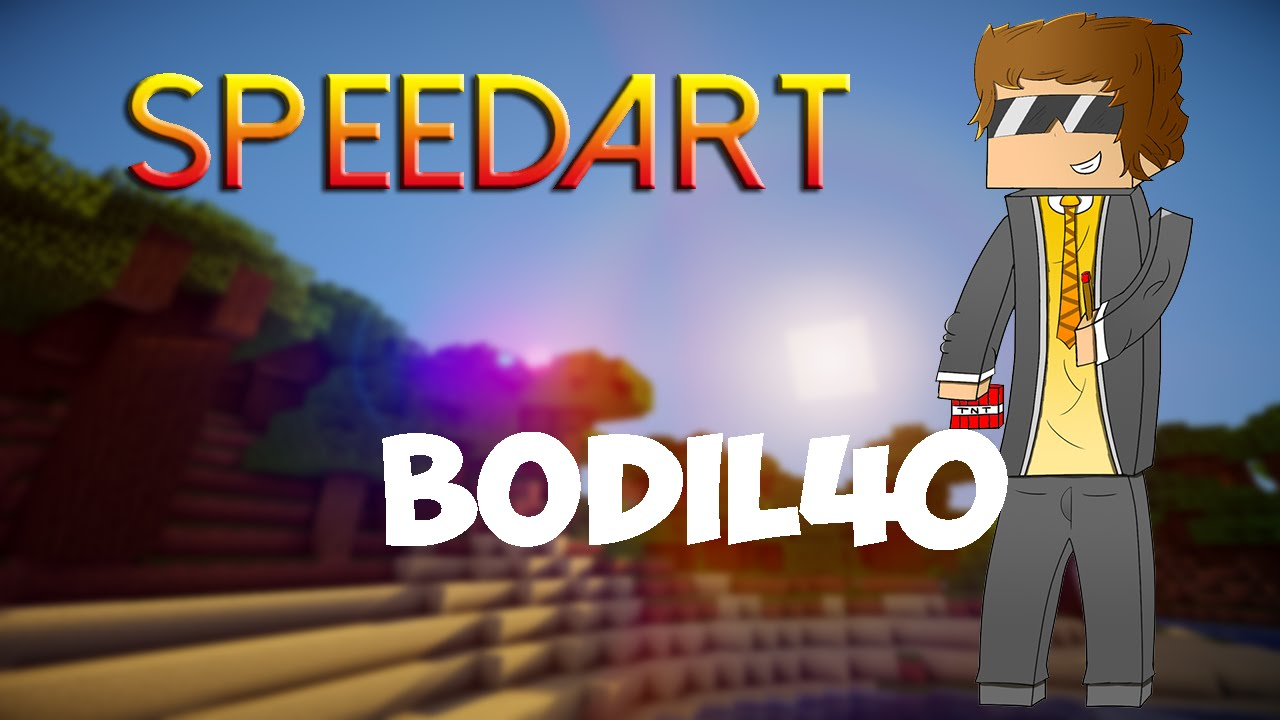 Minecraft - SpeedArt [Bodil40] - YouTube
