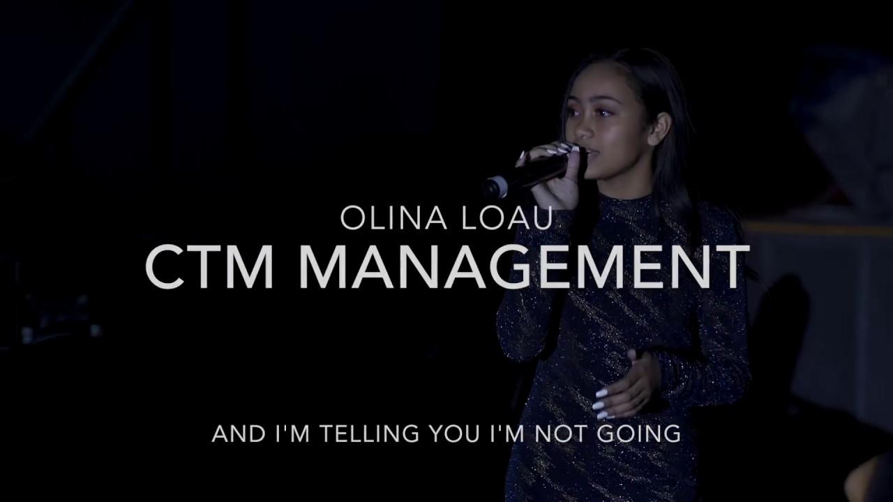 """CTM Managements, Olina Loau Cover """"And i'm telling you I'm not going"""" Jennifer Hudson"""
