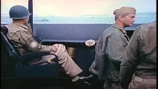 Secretary of the Navy Forrestal, Admiral Turner and General Smith discussing aboa...HD Stock Footage