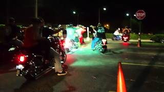 Bikes Leaving from Bike Night