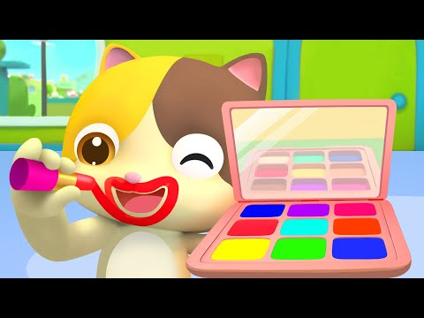 Learn Colors with Baby Kitten | Colors Song | Pretend Play | Kids Songs | Baby Cartoon | BabyBus