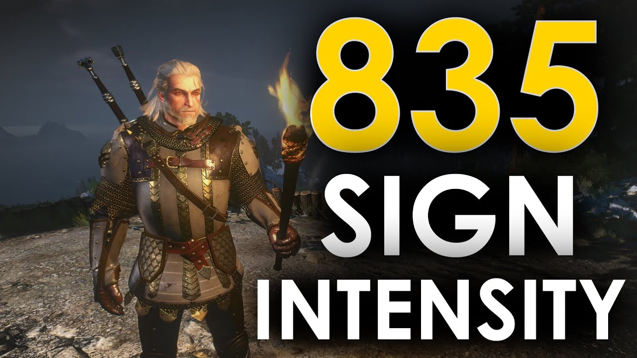witcher 3 what does sign intensity do