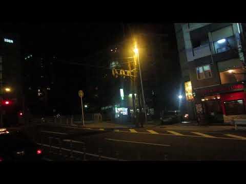 Journey by night bus, around Yokohama