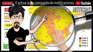 Madrid y Barcelona pasa a la fase 1 a partir del lunes 25 de mayo, Mapa de la desescalada
