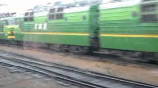 Вокзал и депо Муром из окна ЭР9п.
