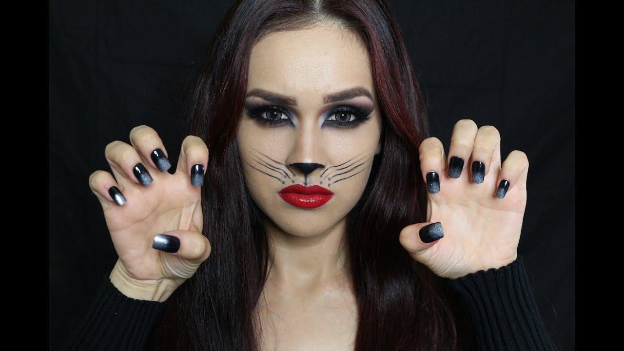 Maquillaje para Halloween Gatita Sexy Con Jacky Hernandez YouTube