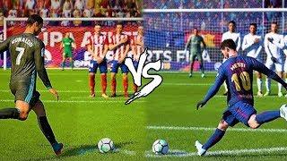 CR7 X MESSI COBRANDO FALTAS NO FIFA 18!!! QUEM É MELHOR??