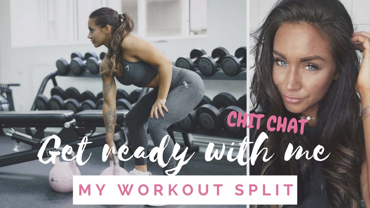 EVERYDAY MAKE-UP ROUTINE & WORKOUT SPLIT - Get ready with me!