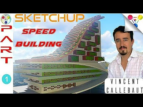 SKETCHUP SPEED BUILDING #1 (VINCENT CALLEBAUT ARCHITECTURES), Paris