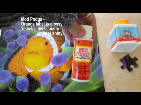 Puzzle Guard Versus Mod Podge - Product Comparison - Preserve Your Puzzle