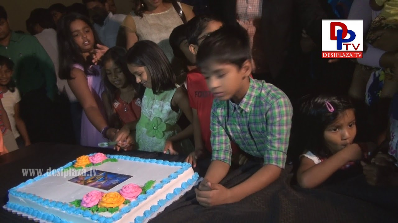 Cake Cutting at Premier Show - Anando Brahma, Dallas Texas, USA