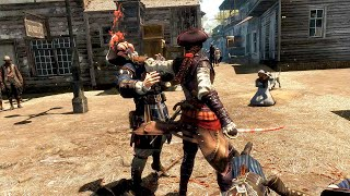 Assassin's Creed Liberation - Master Swordsman Aveline Combat, Hidden Blade Kills & Rampage Gameplay