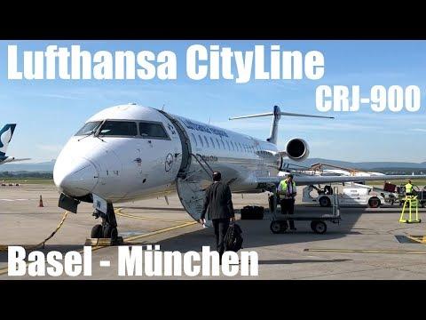 Lufthansa CityLine Bombardier CRJ-900NG Flight LH2395 Basel Mulhouse - Munich