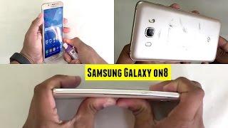 Samsung Galaxy On8 - Screen Scratch test, Burn test & Bend test