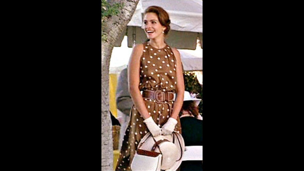Бежевое облегающее платье в мелкий горошек - YouTube