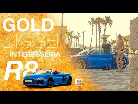 INTERESSEIRA DO AUDI R8 NA GRINGA (GOLD DIGGER PRANK)