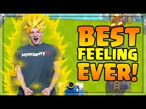 The BEST FEELING EVER in Clash Royale! Insane Comebacks and CELEBRATIONS!