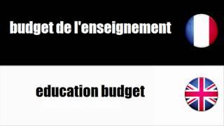 [Français - Anglais] Budget