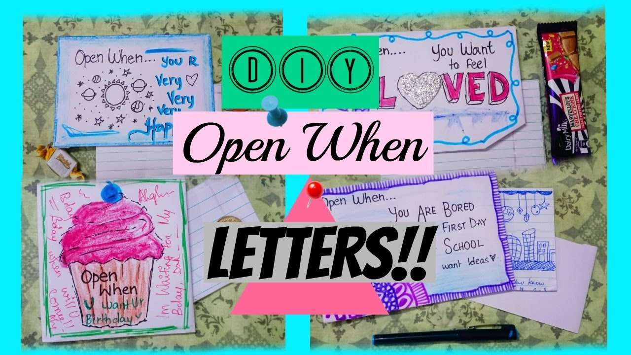 diy open when letters 2017 thecutebuddingcrafter youtube