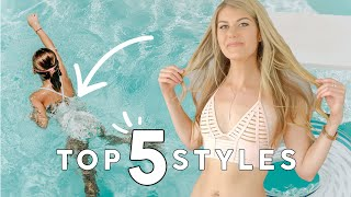 PERFECT swimwear for FLAT CHEST! 5 bikinis that will make you feel like a confident QUEEN (TRY-ON)