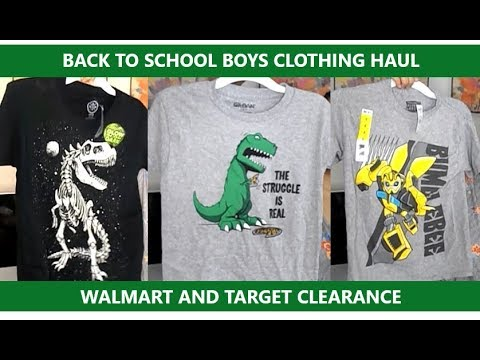 18f89d840 BACK TO SCHOOL BOYS CLOTHING HAUL: TARGET AND WALMART CLEARANCE ...