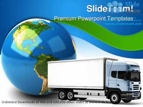 Transportation Truck Globe PowerPoint Templates Themes And Backgrounds ppt themes