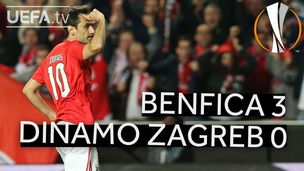 Benfica 3 0 Dinamo Zagreb Uel Highlights Youtube