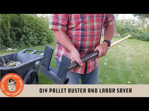 DIY Pallet Buster and Labor Saver