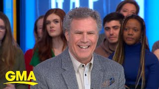 Will Ferrell explains the tiara he wore in a high school picture l GMA