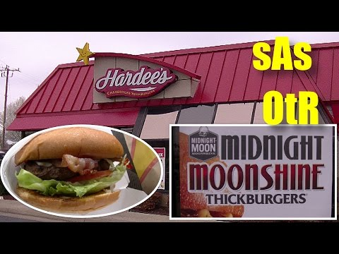 sAs OtR: Hardees/Carl's Jr Midnight Moonshine ThickBurger NEW! Limited Edition! Review!
