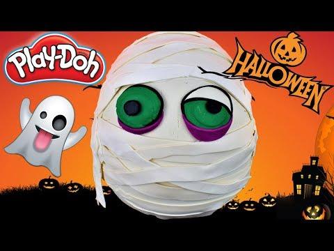 Huevo Sorpresa Gigante de Halloween Momia de Plastilina Play doh en Español