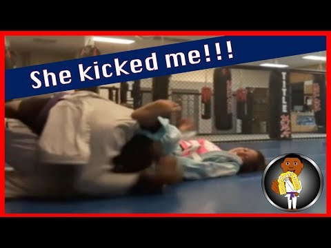 BJJ Roll No. 109 - She Kicked Me - with Ayana at Smiley Academy
