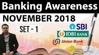 Banking Awareness November 2018 - Part 1 by Dr Gaurav Garg for RBI Grade B/IBPS/RRB/SBI PO CLERK