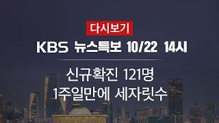 [KBS 통합뉴스룸 다시보기] 신규 확진 121명…누적…