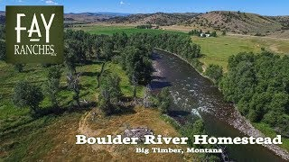 Montana River Property For Sale | Boulder River Homestead | Big Timber, MT