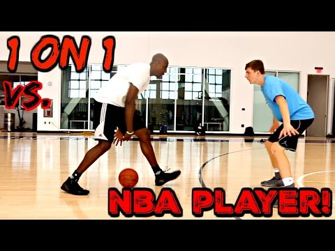 1 ON 1 GAME VS NBA PLAYER!!!