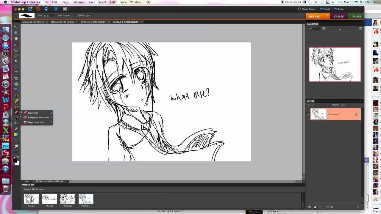 Drawing Anime On Photoshop Elements 8 First Vid It 39 S