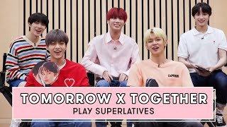 TOMORROW X TOGETHER Reveals Who is the Funniest, the Most Romantic and More | Superlatives