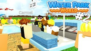 Sells WATER (in water park)! -Roblox Waterpark World English Ep 2 with ComKean