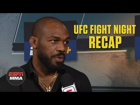 [Spoiler] Jon Jones reacts to Main Event | UFC Fight Night Post Show | ESPN MMA